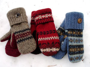 About Us Up North Mittens Handmade Wool Mittens Using Recycled